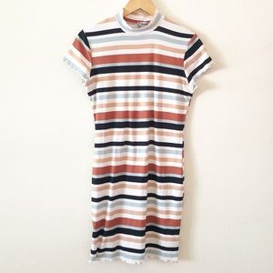 J for Justify Multicolor Striped Dress sz l